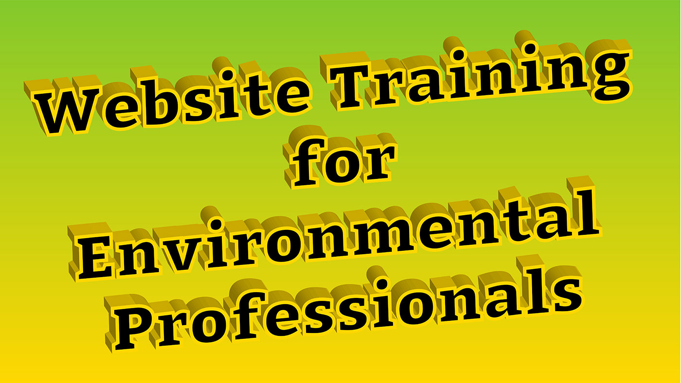 Website Training For Environmental Professionals