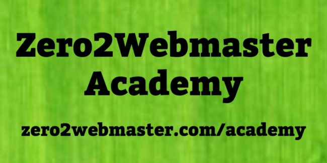 Zero2Webmaster Academy